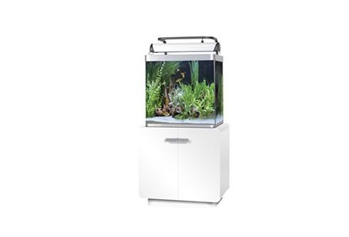 Aquarium Fluval Osaka 155 Glossy Blanc avec meuble