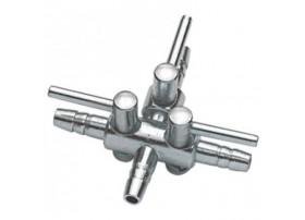 ROBINET à air métal 4-6mm 3 sorties blister 1pc HOBBY