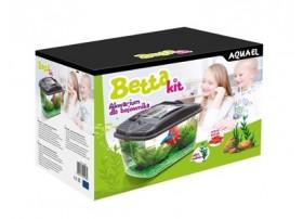 AQUAEL Aquarium betta kit 3,2l avec plante + gravier