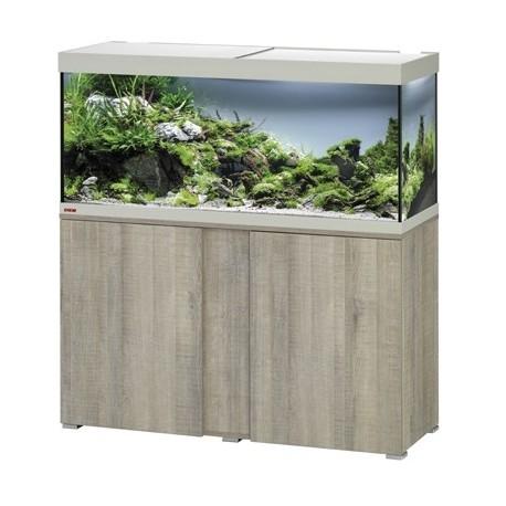 Aquarium + meuble VIVALINE LED 240 - chêne gris 240L