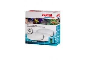 EHEIM Coussin de ouate blanche pour filtre EHEIM CLASSIC 350 (EHEIM 2215) - vendu par 3