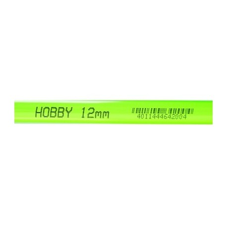 HOBBY Tube rigide vert 12mm extérieur 1m