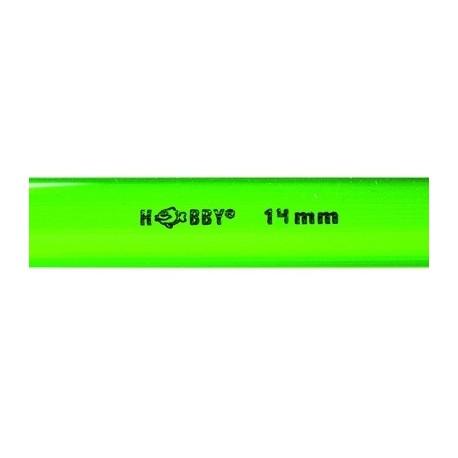 HOBBY Tube rigide vert 14mm extérieur 1m