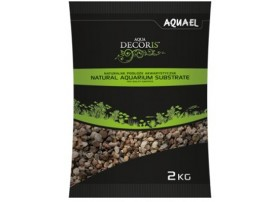 AQUAEL Gravier naturel multicolorouge 3-5mm 2kg