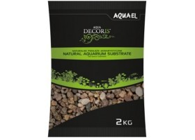 AQUAEL Gravier naturel multicolorouge 5-10mm 2kg