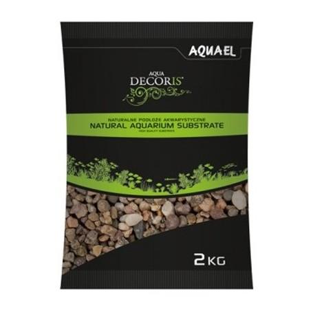 AQUAEL Gravier naturel multicolorouge 5-10mm 2kg
