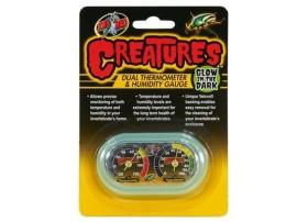 ZOOMED Créatures dual thermomètre & hygromètre gauge