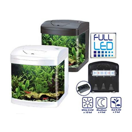 Aquarium XCUBE 26 LED BLANC équipé AMTRA