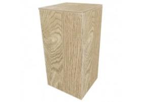 Meuble Cube Stand 80 Chene Clair 45X45X90Cm - DUPLA