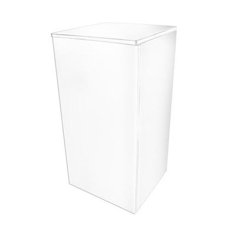 Meuble Cube Stand 80 Blanc 45X45X90Cm