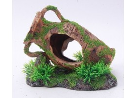 VASE WITH MOSSY  160x115x135mm