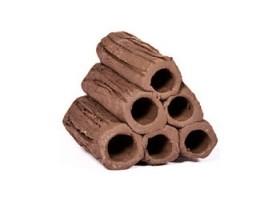 6 tubes argile en pyramide