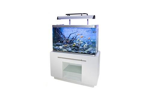 Aquarium fluval osaka 260 glossy blanc avec meuble for Aquarium osaka 260