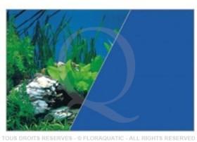 Décor de fond recto-verso Roches / Bleu - Hauteur 50 cm Longueur sur mesure