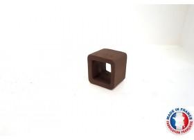Abris Céramique Noir Carré Simple S (3cm)