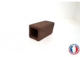 Abris Céramique Noir Carré Simple M (6cm)