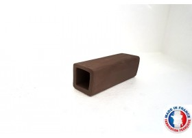 Abris Céramique Noir Carré Simple L (10cm)