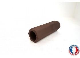 Abris Céramique Noir Hexagonal Simple L (10cm)