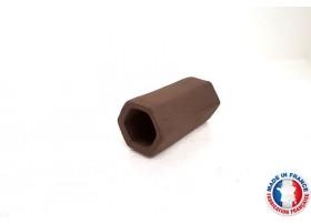 Abris Céramique Noir Hexagonal Simple M (6cm)