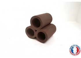 Abris Céramique Noir Cylindrique Triple M (6cm)