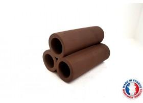 Abris Céramique Noir Cylindrique Triple L (10cm)