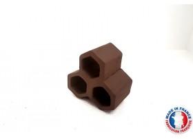 Abris Céramique Noir Hexagonal Triple S (3cm)