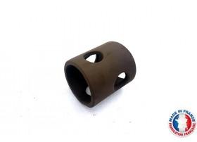 Abris Céramique Noir Rond 4 trous M (6cm)