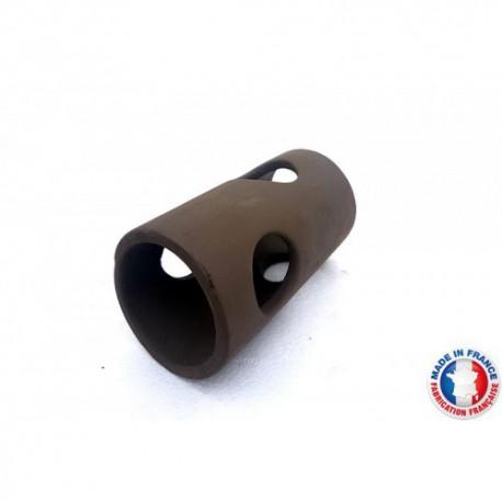 Abris Céramique Noir Rond 4 trous L (10cm)