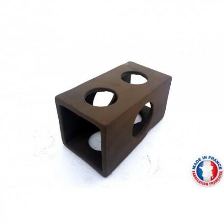 Abris Céramique Cube 6 trous L (10cm)